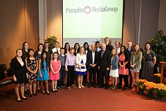 Photo Credit: PAMPLIN MEDIA GROUP: JAIME VALDEZ - Nearly two dozen 'Amazing Kids' from across the region were honored Thursday by the Pamplin Media Group. The young people were chosen for their contributions to their communities. Dr. Robert Pamplin Jr. and champion ice skater Scott Hamilton urged the young people to continue their good work.