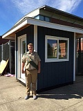 Photo Credit: SUBMITTED PHOTO - Bridger Youd rallied community support and donations to complete his Eagle Scout project. Thanks to his leadership, WHS athletics have a new ticket booth, and it's double the size of the old one.