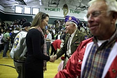 Tigard High School students and staff meet with veterans during the school's annual Veterans Day assembly in 2010. This year's assembly is scheduled for Nov. 7.