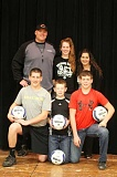 Photo Credit: JEFF WILSON/THE PIONEER - The Little family, clockwise from top left, Shea, Shealene, Naomi, Cole, Brody and Mack, have put their all into helping Shealene achieve her volleyball dreams. Along the way, they found Culver to be home.