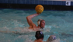 Photo Credit: TIMES PHOTO: MATT SINGLEDECKER - Southridge senior Matt Braun said the Skyhawsk have fully embraced new water polo head coach Lauren Pond, who took over the Skyhawks this season after coaching successfully at the club level in Oregon and California.