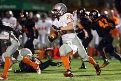 Photo Credit: JAIME VALDEZ/PAMPLIN MEDIA - Molalla's Isaiah Bilbrey had 14 touchdowns during the regular season and was named to the all-Tri-Valley Conference first team for the second consecutive season.