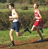 Photo Credit: HILLSBORO TRIBUNE PHOTO: ZACK PALMER - Liberty senior Jonathan Fookes runs at the Class 5A cross-country championships on Saturday at Lane Community College in Eugene.