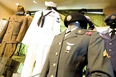 Photo Credit: KEVIN SPERL - Eight military uniforms are part of the display at the Bowman Museum's 'Uncle Sam's Crook County Heroes' exhibit.