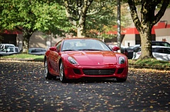 Photo Credit: TRIBUNE PHOTO JONATHAN HOUSE - Shane enjoyed his ride in Eric Peterson's Ferrari 599 GTB.