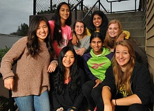 Photo Credit: PAMPLIN MEDIA GROUP: VERN UYETAKE - The Student Writer Advisory Group met for the first time last week and will continue to meet each month to discuss topics of interest to the community. From left, front row, Christine Hong, Sophie Brooke, Kavya Sreedhar, Mikhaila Bishop. Back row, from left, Anisha Arcot, McKenna Murray, Meghana Mysore and Tess Wolvert.