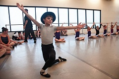 Photo Credit: TIMES PHOTO: VIRGINIA WERNER - Andrew Davis, 8, dances as Pinocchio during a rehearsal for The Portland Ballet's upcoming premiere of 'Tales from Mother Goose.'