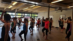 Photo Credit: SUBMITTED PHOTO - Members of Milwaukie-Sellwood Jazzercise Studio dance with weights to increase core strength, cardiovascular endurance, flexibility and stress release.
