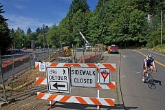 Photo Credit: TRIBUNE PHOTO BY JAMIE VALDEZ - Work on his project will close northbound lane on SE Terwilliger this weekend.
