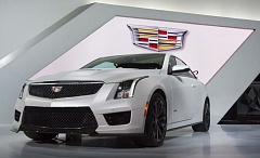 Photo Credit: TRIBUNE PHOTO BY JOHN M. VINCENT - The Cadillac ATS-V will include an onboard performance recorder that captures high-definition video and driving data to evaluate your driving prowess and share on social media.
