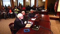 Photo Credit: KOIN 6 NEWS - Portland City Hall was packed for a public meeting on the proposed street fee plan.
