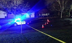 Photo Credit: KOIN-6 NEWS: JENNIFER HOFF - Police respond to the scene of an officer-involved shooting in the 12000 block of Conestoga Drive in Beaverton on Thursday evening. Conestoga Drive resident Chesea B. Fresh was fatally shot after police say she pointed a rifle at Beaverton officers who responded to a 911 call from Fresh's boyfriend. The incident is under investigation and the officers involved were placed on administrative leave.