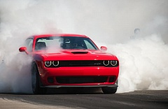 Photo Credit: TRIBUNE PHOTO JOHN M. VINCENT - The 2015 Dodge Challenger Hellcat is a performance monster. Dodge claims that it is the most powerful muscle car ever to be sold in America.