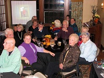 Photo Credit: SUBMITTED PHOTO - WLACC volunteers enjoying happy hour for the appreciation dinner held at the McLean House.