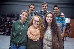 Photo Credit: TIMES PHOTO: JONATHAN HOUSE - TuHS students, clockwise from upper left, Austin Brown, Cole Buss, Jarod Pereda, Lily Kirwan, McKenzie Lester, and Haley Frith have all qualified for All-State or All-Northwest in choir.