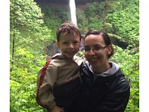 Photo Credit: PHOTO COURTESY: MPD - Kelsey Alexis Zionskowski of Milwaukie with her 5 year-old-son, Santino.