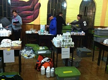 Photo Credit: SUBMITTED PHOTO - Volunteers with nonprofit Timmy Global Health set up a clinic in Quito, Ecuador. The volunteers went to five different location in five days and provided care to more than 500 patients.