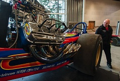 Photo Credit: SPOKESMAN FILE PHOTO: JOSH KULLA - The World of Speed motor sports museum, shown here at its February 2014 ground breaking, is set to open to the public in April 2015.