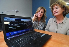 Photo Credit: REVIEW PHOTO: VERN UYETAKE - Victoria Bramley, left, and Peggy Lawson have formed a partnership in Lake Oswego that clears up mysteries about purchasing healthcare insurance policies.