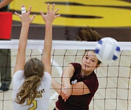 Photo Credit: NEWS-TIMES PHOTO: CHASE ALLGOOD - Forest Grove senior outside hitter Bryanna Hanson earned honorable mention status on the Greater Valley Conference all-star team.