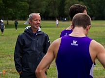 University of Portland cross country coach Rob Conner celebrated a third-place finish in national championships.