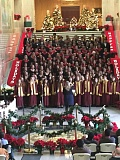 Photo Credit: PHOTO COURTESY: JOE KRUMM - The combined A-Choirs of Clackamas, Milwaukie and Rex Putnam high schools perform the Hallelujah Chorus at the State Capitol on Friday.