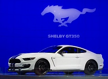 Photo Credit: TRIBUNE PHOTO JOHN M. VINCENT - Ford filled out its Mustang lineup with the 500-plus horsepower Shelby GT350. It resurrects the Shelby GT350 name first introduced in 1965.