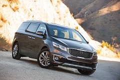 Photo Credit: TRIBUNE PHOTO JOHN M. VINCENT - The 2015 Kia Sedona has evolved to compete with the best minivans in the market. The top of the line SX Limited is available with a technology package that includes a full suite of electronic driving aids and safety technology.