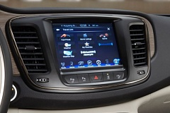 Photo Credit: COURTESY CHRYSLER LLC - Touchscreen infortainment system are becoming more common, like this one in the 2015 Chysler 200.