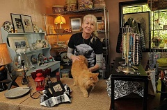 Photo Credit: REVIEW FILE PHOTO: VERN UYETAKE - Dana Lionels Oregon Cat Project on B Avenue included a no-kill cat shelter, a thrift store and a cat food bank.