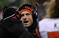 Photo Credit: COURTESY OF DAVID BLAIR - Mike Riley, who recently ended his two-part coaching career at Oregon State to become coach at Nebraska, says his first contact with the Cornhuskers came shortly after a Monday postseason meeting with OSU athletic director Bob De Carolis and took two days to finalize.