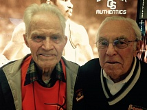 Photo Credit: TRIBUNE PHOTO: KERRY EGGERS - Andy Landforce (left), 97, and Bud Ossey, 95, are a part of Oregon State University and Beavers athletics history. And, boy, do they have stories and good memories.