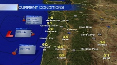 Photo Credit: KOIN LOCAL NEWS - Wind gust are expected to continue up the Willamette Valley this afternoon.