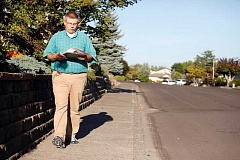 Photo Credit: TIMES FILE PHOTO: JONATHAN HOUSE - Tim Esau went door-to-door in Tigard last year to put an anti-transit petition on the ballot in Tigard. Now, hes set his sights on all of Washington County.