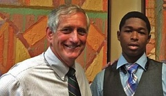 Photo Credit: COURTESY MAYOR HALES TWITTER FEED - Mayor Charlie Hales and La'Braye Franklin in the summer of 2014.