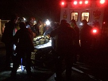 Photo Credit: MULTNOMAH COUNTY SHERIFF'S OFFICE - Injured hiker Randy Craig was rescued and transported to safety.