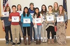 Canby High's students of the month for November.