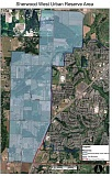 Photo Credit: COURTESY CITY OF SHERWOOD - The shaded areas show where up to 1,300 acres of property will eventually come into the city, part of plan to provide land for growth over the next 50 years.