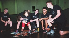Photo Credit: JOHN DENNY - Gladstone High School wrestlers last week took some time to work with 7-year-old Joseph Magdaleno. Joseph, who has been part of Gladstones Kids Wrestling program for two years, says he likes the sport because, I like attacking and playing rough. Giving Joseph some instruction is Gladstone senior co-captain Blake McNall. Senior co-captains (left to right) Rylan Martin, Kyle Kintz, Dijaun Davis and Adam Taylor look on. With a lot of experience in their varsity lineup, the Gladiators expect to have one of their better seasons in years.