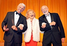 Photo Credit: SUBMITTED PHOTO - From left, Lee Wallace, Betty Merrill and Bill Morris, all of Lake Oswego, rehearse a number for a Northwest Senior Theatre performance.