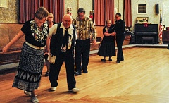 Photo Credit: HILLSBORO TRIBUNE PHOTO: STEPHANIE HAUGEN - Twice a month, the Odd Fellows Hall in downtown Hillsboro fills up with square dancers who love to swing and seesaw.