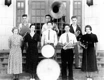 Photo Credit: COURTESY OF MOLALLA AREA HISTORICAL SOCIETY - This photo is a true mystery. Contributed by the Molalla Area Historical Society, it was tagged 'Unknown Band.'  If you know who these kids might be, contact the Pioneer office. Your answer will be printed in the next edition.
