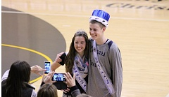 Photo Credit: JIM BESEDA/MOLALLA PIONEER - Seniors Miranda Halverson and Ben Grandle were crowned Miss and Mr. CCS during ceremonies Tuesday at Country Christian High School.