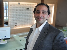 Photo Credit: SPOKESMAN PHOTO: JOSH KULLA - Dr. Oday Alsheikh is shown here at the new Lenza Eye Center in Argyle Square in Wilsonville. The new clinic combines optometry - think eyeglasses - with opthamology - such as LASIK and other eye surgery - for a complete health care experience.