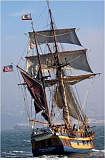 Photo Credit: COURTESY OF THOMAS HYDE - The 1790s-era replica Lady Washington, the official state ship of Washington, will be voyaging up the West Coast for the next five months and going on tour up the Columbia River in July and August.
