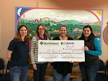 Photo Credit: SUBMITTED - Pictured are, from left, Tricia Chastain, Senior Appraiser, Northwest Farm Credit Services; Leslie Curtis, PTC President; Jaimie Coppola, PTC Secretary; and Nora Cain, PTC Vice President.