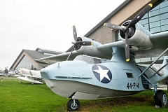 Photo Credit: GARY ALLEN - Still standing - A Consolidated PBY displayed at the Evergreen Air & Space Museum appears to be safe amidst the ongoing Evergreen Vintage Aircraft bankruptcy case, as it is registered to the Michael King Smith Foundation. Twenty-four of the museum's aircraft are owned by EVA along with the museum building itself, and may be impacted by the bankruptcy.