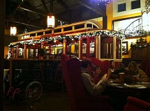 Photo Credit: COURTESY OF THE OLD SPAGHETTI FACTORY - The interior of The Old Spaghetti Factory is know for its use of old trolleys, which serve as dining booths.
