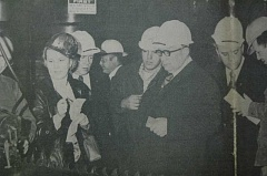 Photo Credit: ARCHIVE PHOTO - 1975: A Russian delegation tours an Estacada sawmill.