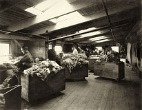 Photo Credit: PHOTO COURTESY: CCHS - Wool sorters work in Oregon City in this historic photo from 1918.